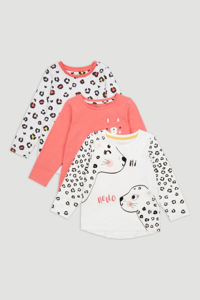 3 Pack Cat T-shirts 1-10yrs