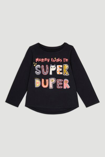 Black Super Duper T-shirt