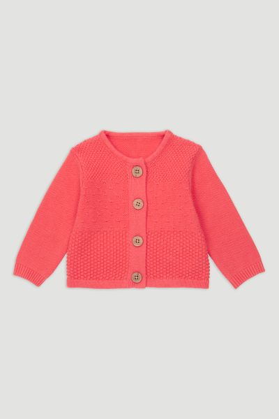 Coral Knitted Cardigan