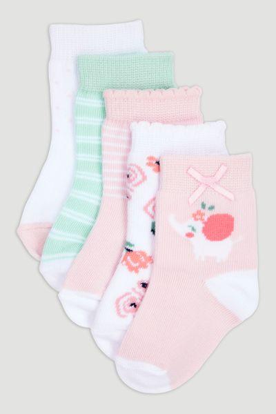 5 Pack Elephant Socks
