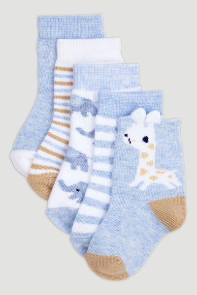 5 Pack Giraffe Socks
