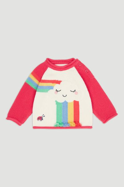 Cloud Rainbow Knitted Jumper