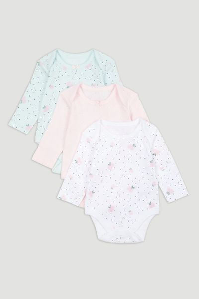 3 Pack Pointelle Bodysuits