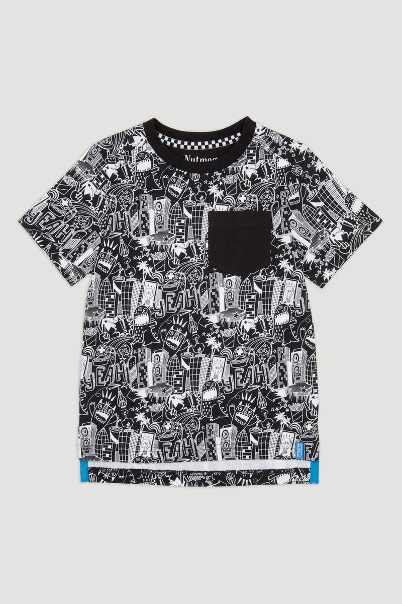 Monochrome Sketch T-shirt