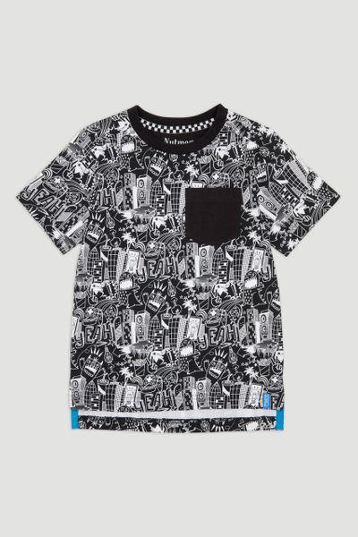 Monochrome Sketch Print T-shirt