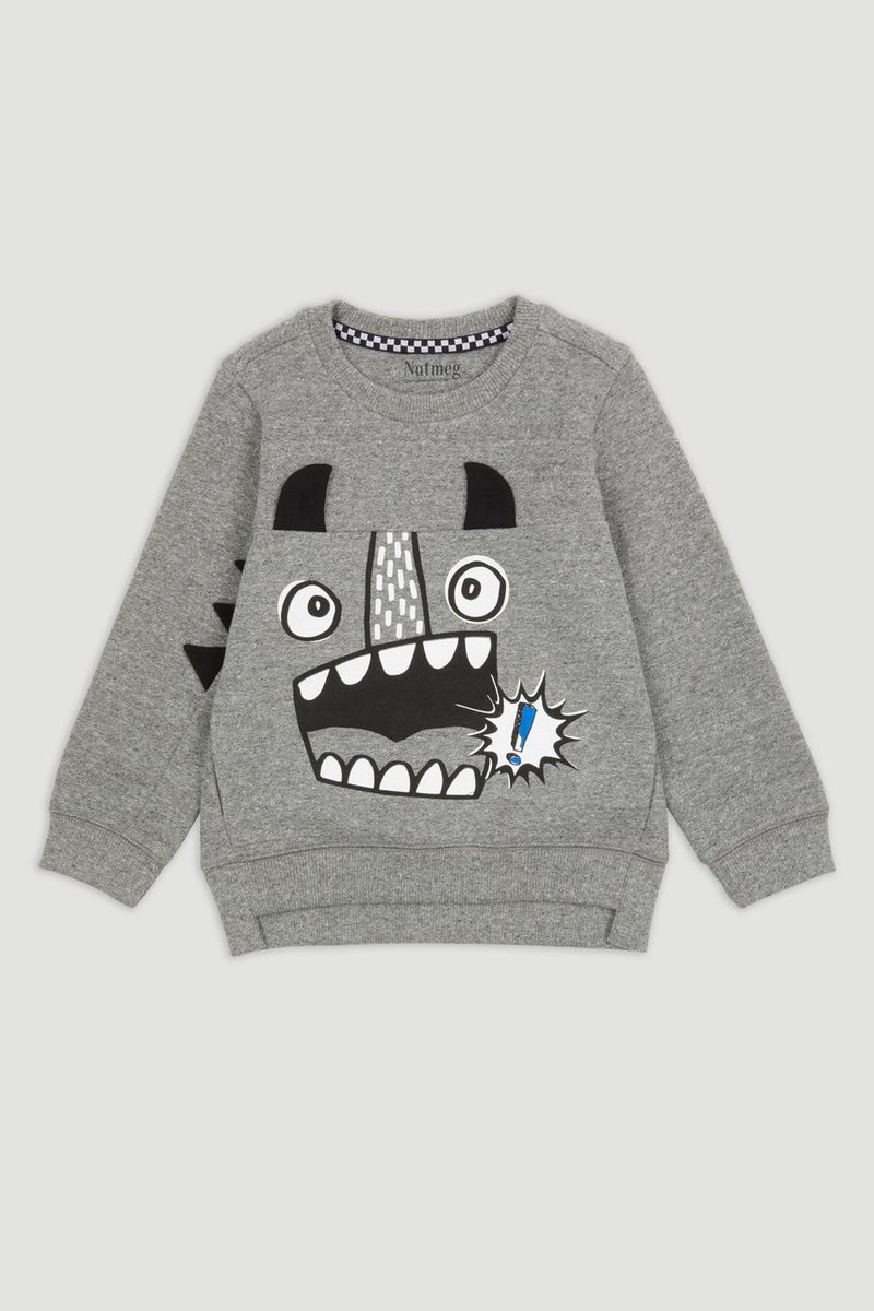 Charcoal Monster Sweatshirt