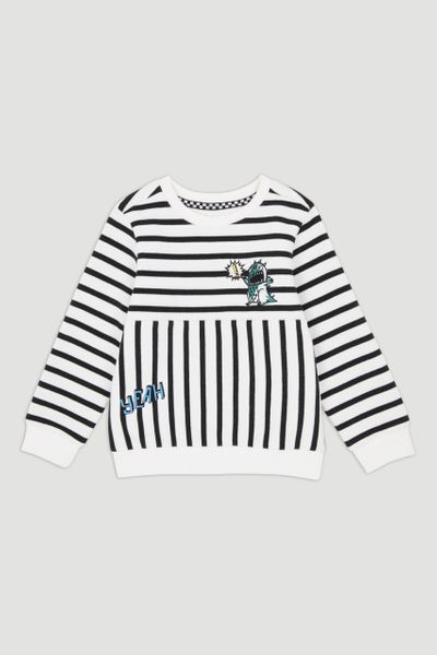 Stripe Monster Sweatshirt