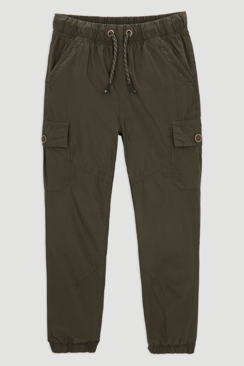 Khaki Cargo Trousers 1-14yrs