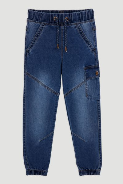 Denim Cargo Jeans 1-14yrs