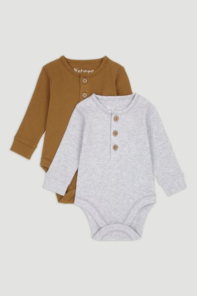 2 Pack Ribbed Bodysuits