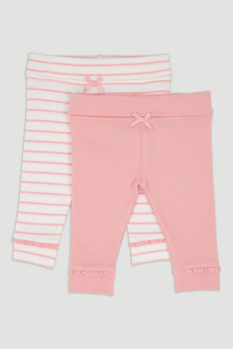 2 Pack Pink Ribbed Leggings