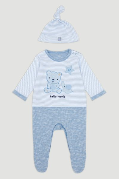 Bear Sleepsuit with Hat