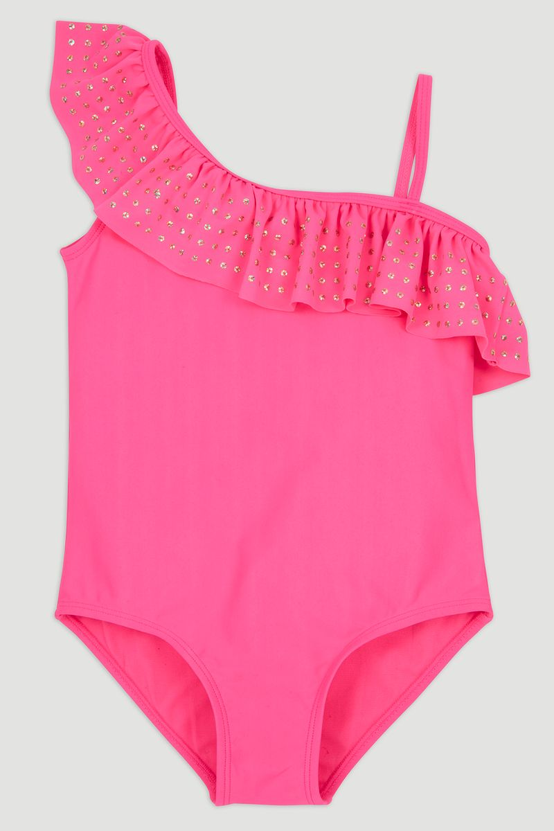 Sequin Frill Swimsuit