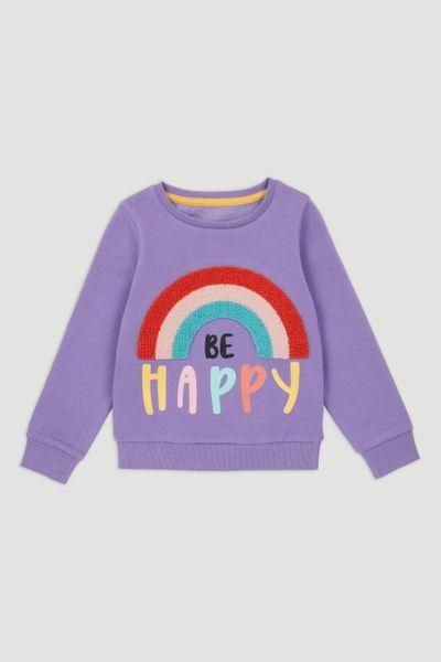 Purple Happy Rainbow Sweatshirt