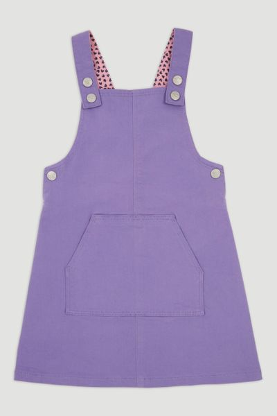 Purple Pinafore Dress