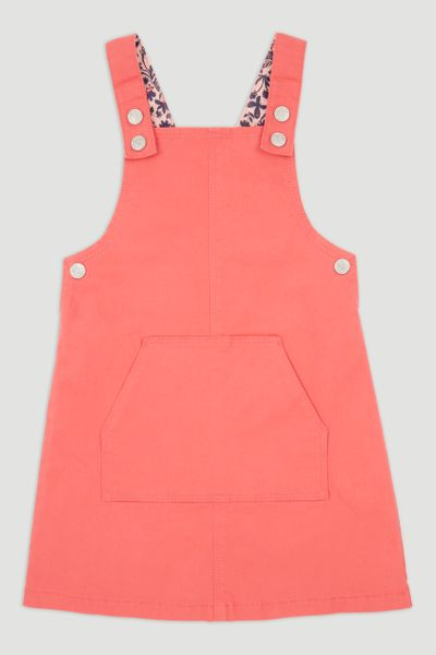 Coral Pinafore Dress