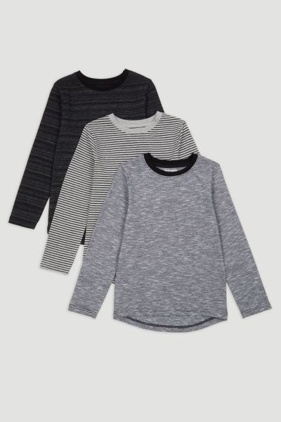 3 Pack Long Sleeve T-shirts 1-14yrs