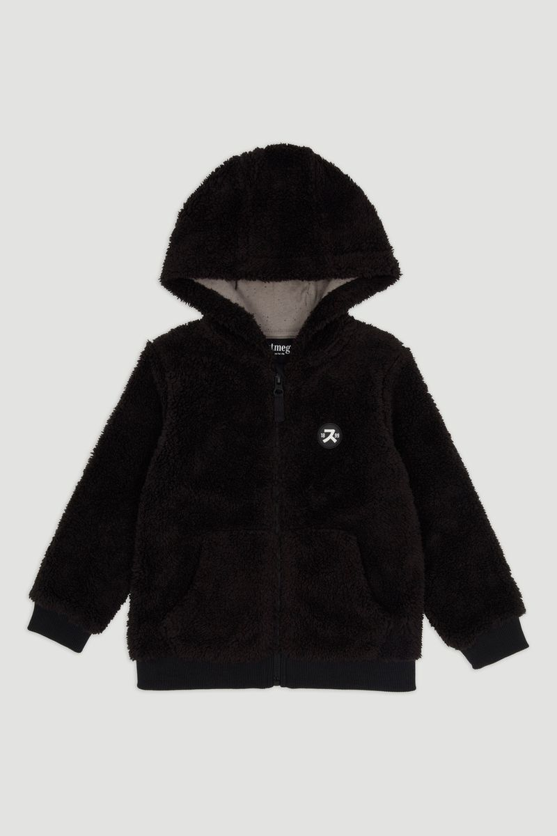 Black Teddy Fleece Hoodie