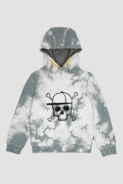 Tie Dye Skull Print Hoodie
