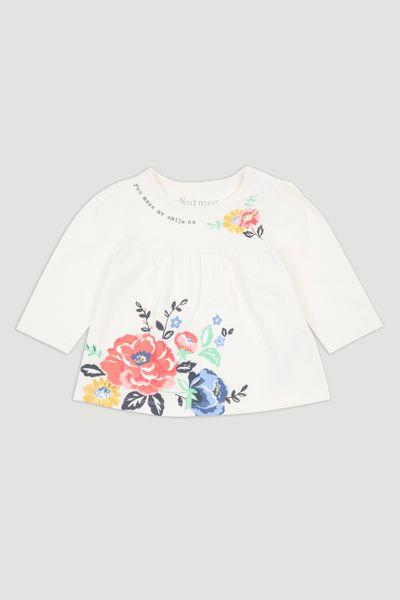 Floral Slogan T-shirt