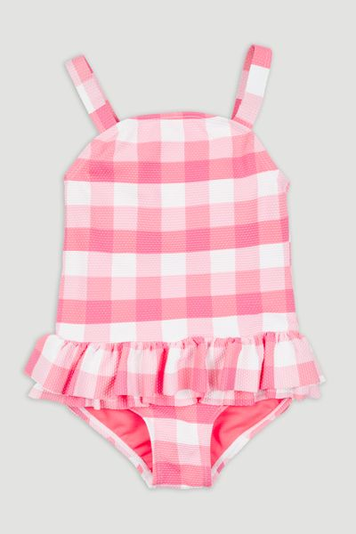 Pink Gingham Swimsuit