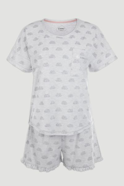 Cloud Print Short Pyjamas