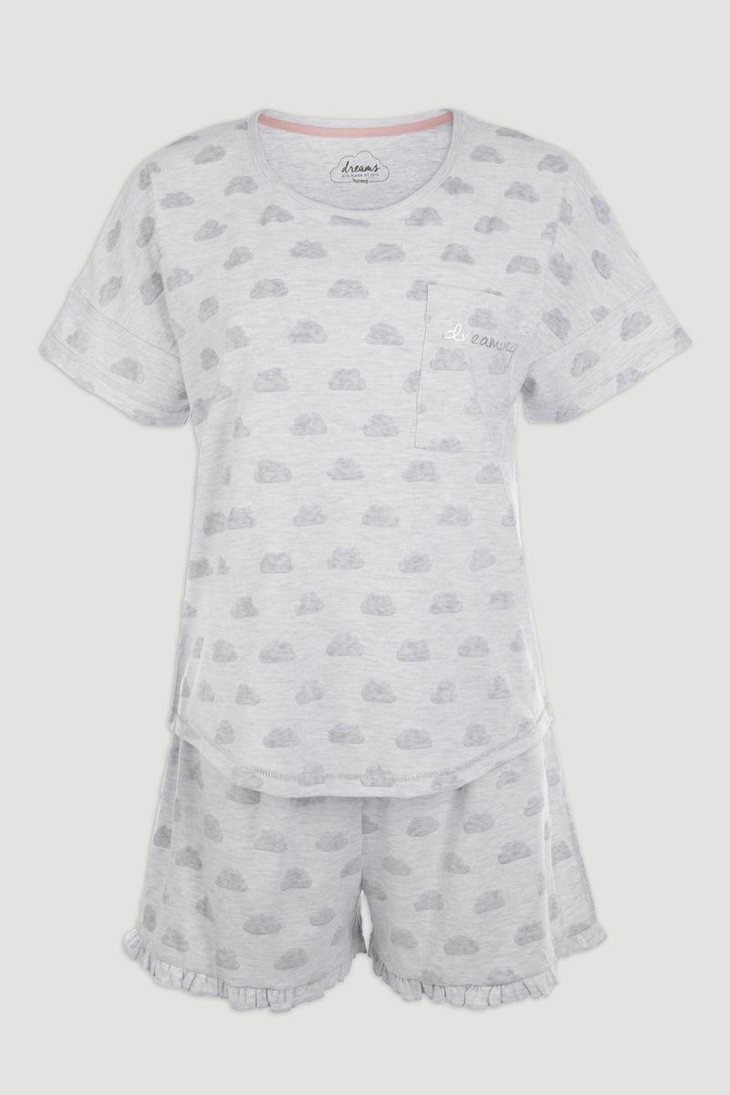Cloud Print Short Pyjamas