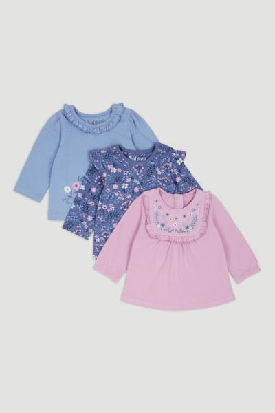 3 Pack Lilac Long Sleeve T-Shirts