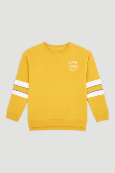 Mustard Colour Block Sweatshirt
