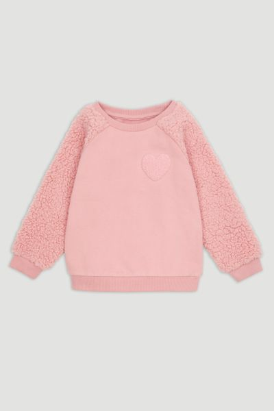 Textured Heart Sweatshirt
