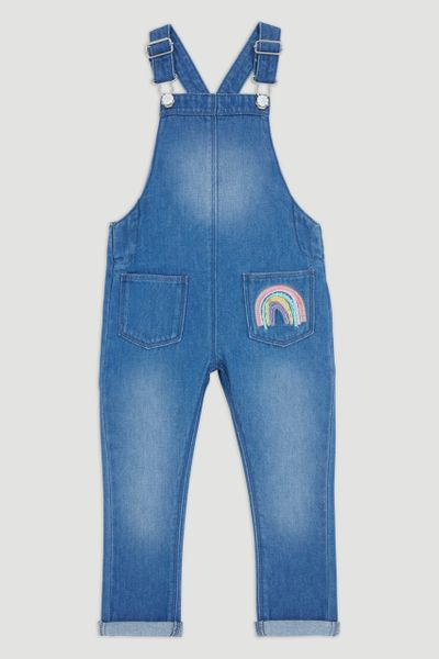 Denim Rainbow Dungarees