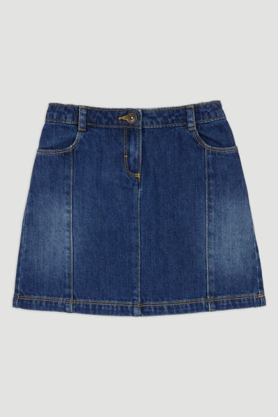 Denim Blue Wash Skirt