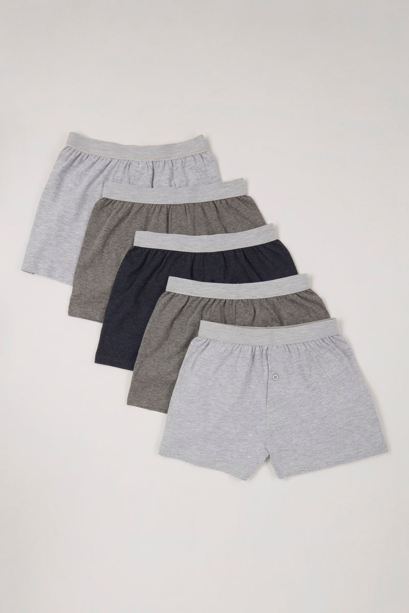 5 Pack Blue Boxers