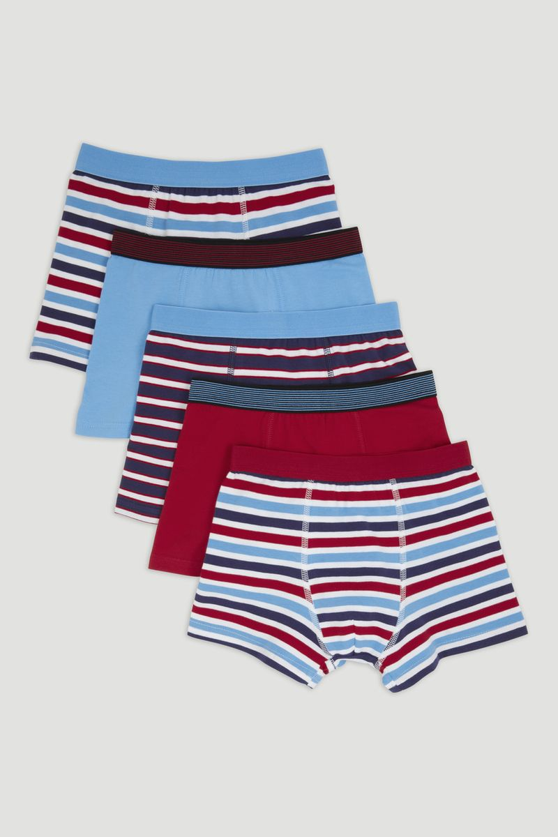 5 Pack Bright Stripe Trunks