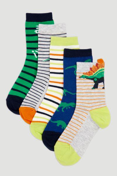 5 Pack Dinosaur Socks