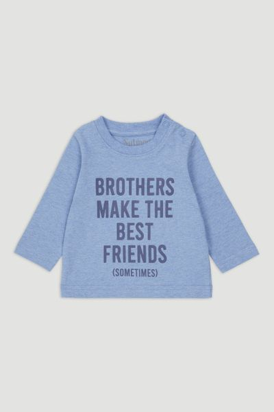 Blue Brother Slogan T-shirt