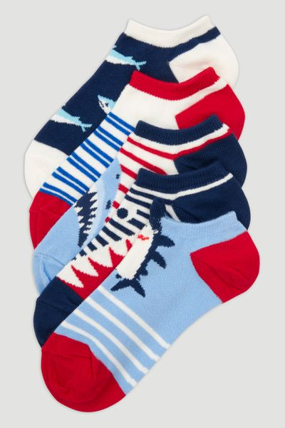 5 Pack Shark Socks