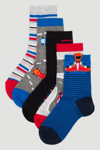 5 Pack Racing Car Socks