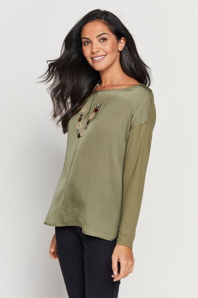 Khaki Necklace Top