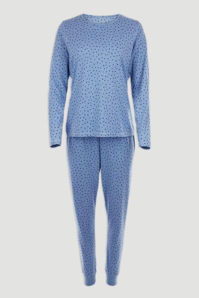 Blue Marl Spot Pyjamas