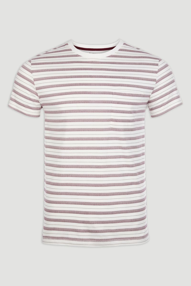Burgundy Chevron Stripe T-shirt