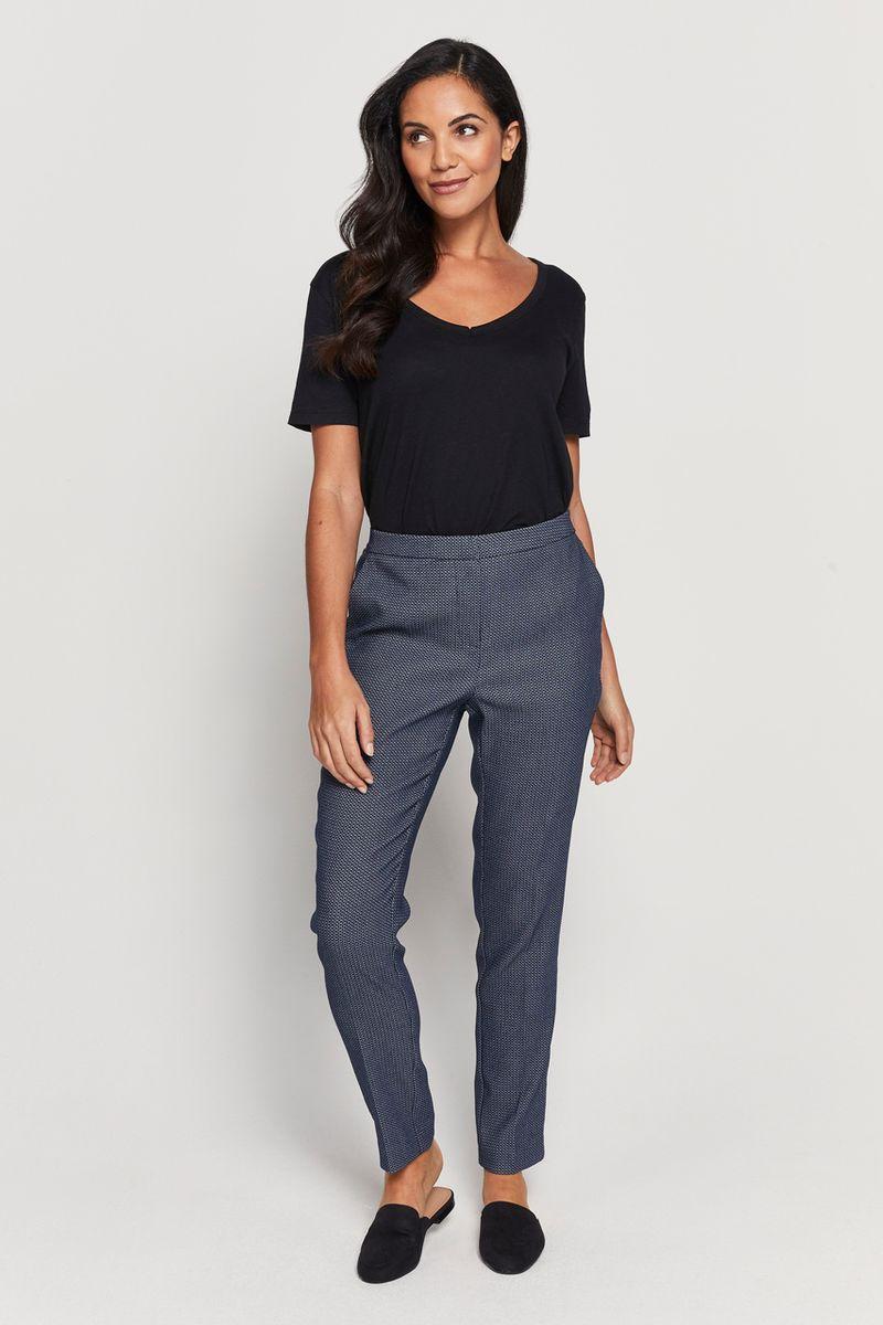 Navy Spot Trouser