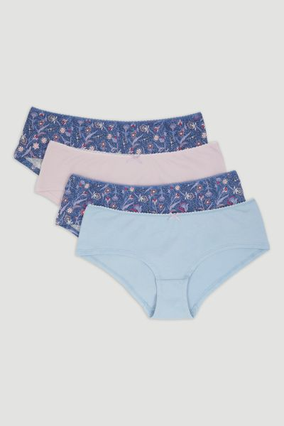 4 Pack Paisley Shorts