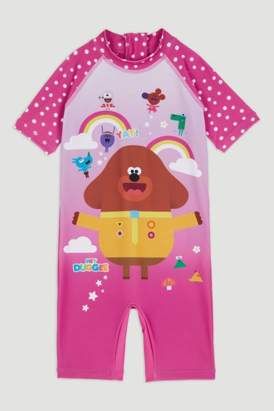 Pink Hey Duggee All in One Swimsuit