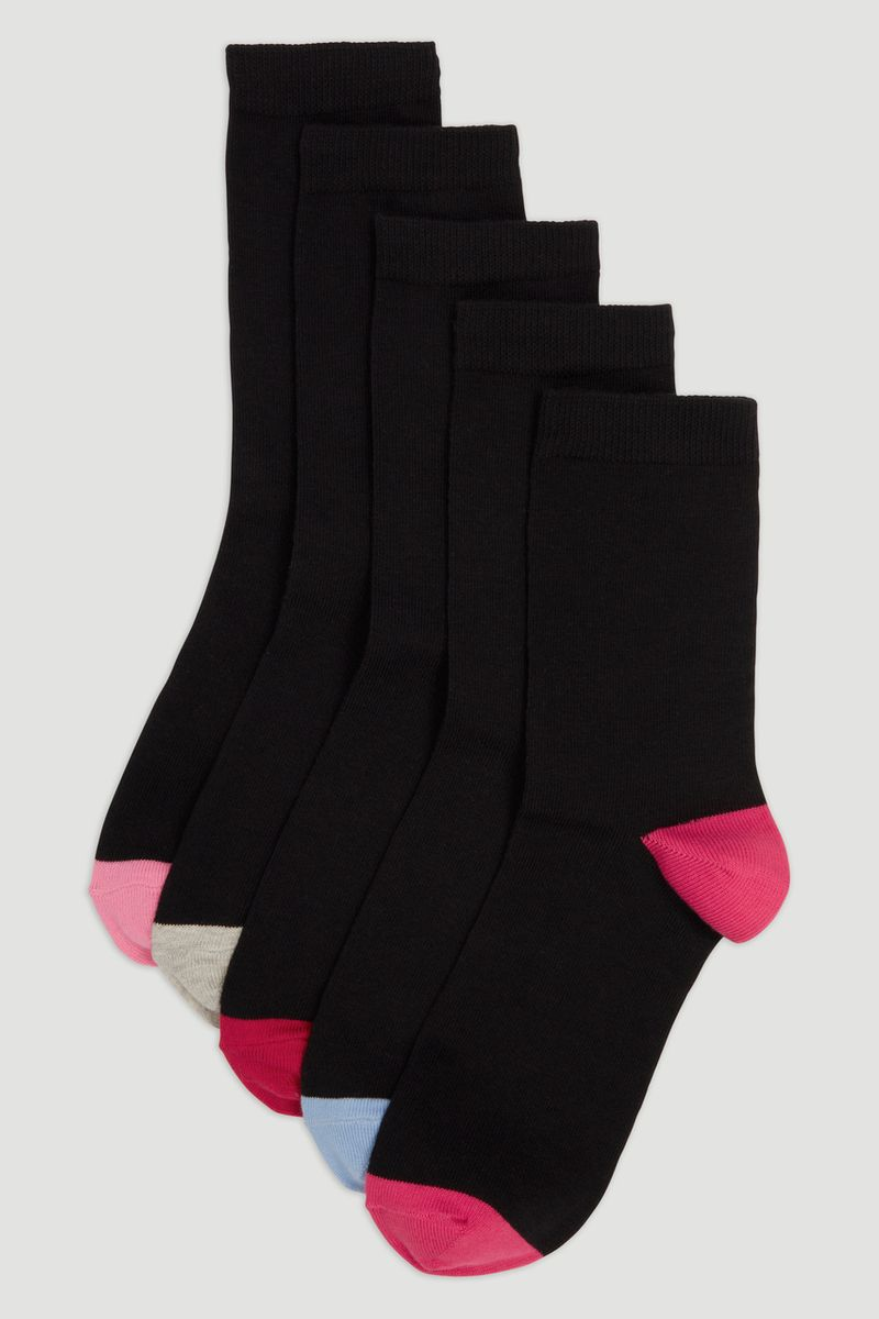 5 Pack Heel & Toe Socks