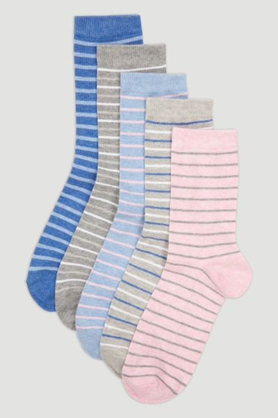 5 Pack Marl Stripe Socks