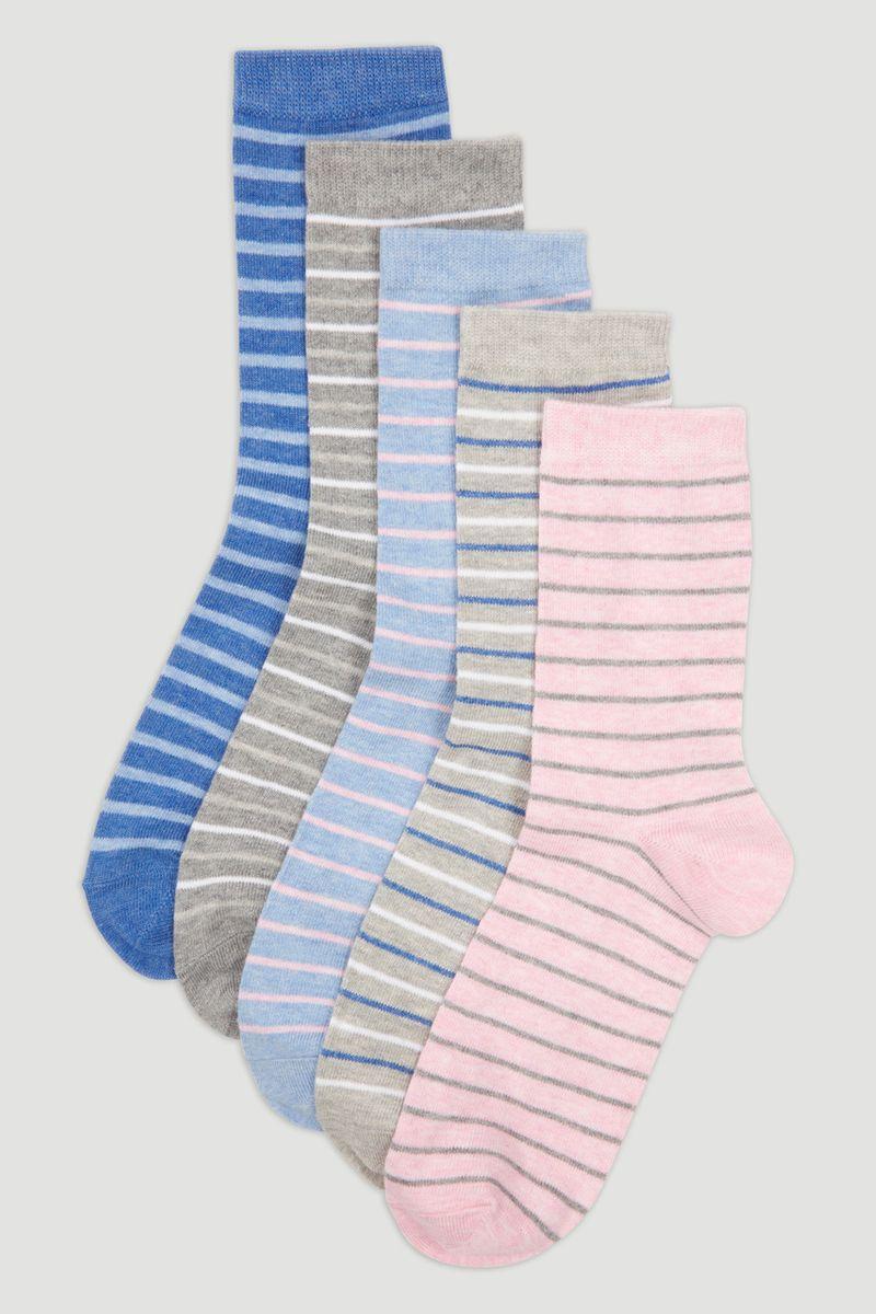 5 Pack Marl Stripe Socks