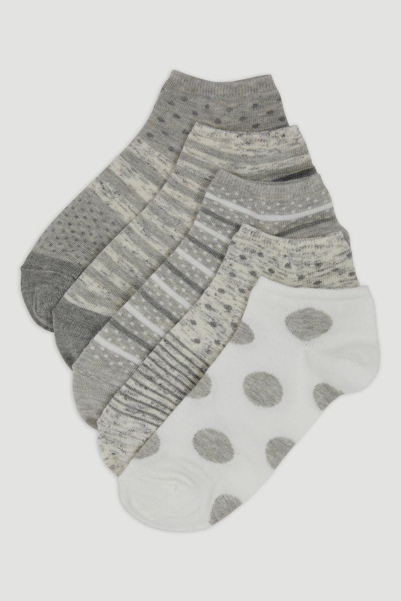 5 Pack Spot & Stripe Trainer Socks