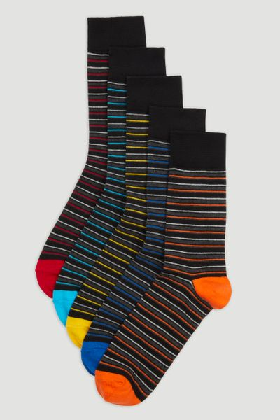 5 Pack Stripe Socks