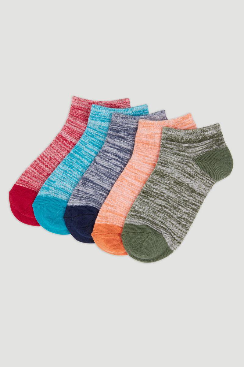 5 Pack Marl Trainer Socks
